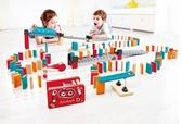 機械多米諾發射器套兒童寶寶益智骨牌積木木制玩具