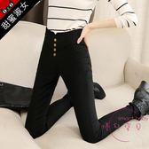 黑色大尺碼女裝新品打底褲女外穿秋裝胖mm大象腿小腳長褲子顯瘦S-5XL