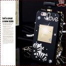 送掛繩 蘋果 IPhone X 8 7 6 Plus Love斑馬 香水造型 香水瓶 手機殼 全包 防摔 軟殼