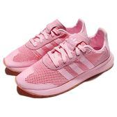【粉粉DER】adidas 休閒慢跑鞋 FLB W 粉紅 李聖經 Flashback 網布 復古款 女鞋【PUMP306】 BY9309