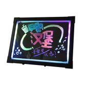 可掛螢光板40 30發光小黑板櫃檯式手寫板留言字led螢光板廣告牌屏WD 檸檬衣舍