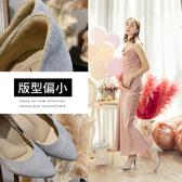 Ann'S低調奢華-絕美弧線閃耀跟鞋-銀
