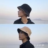 男帽子春雙面夾邊平頂漁夫帽韓國休閒男女士盆帽情侶學生帽男 交換禮物