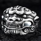 《 QBOX 》FASHION 飾品【R10BR8-185】精緻個性避邪神獸麒麟鑄造鈦鋼戒指/戒環