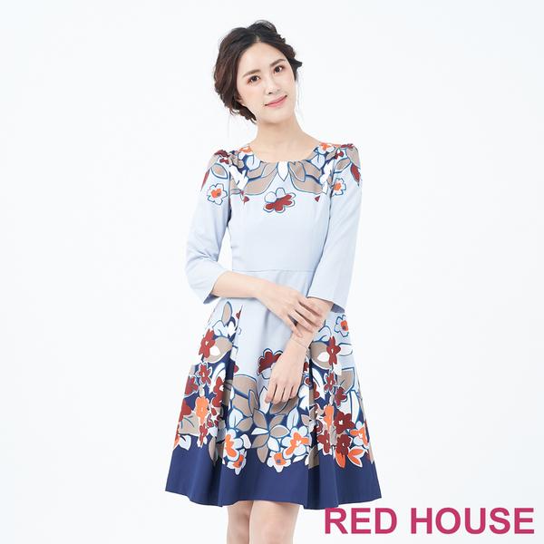 RED HOUSE-蕾赫斯-印花花朵洋裝(共2色)