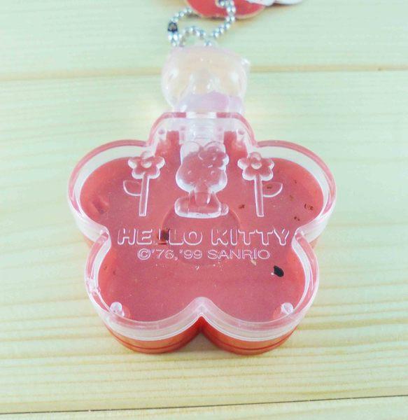 【震撼精品百貨】Hello Kitty 凱蒂貓~KITTY飾品盒附鏡-紅花圖案