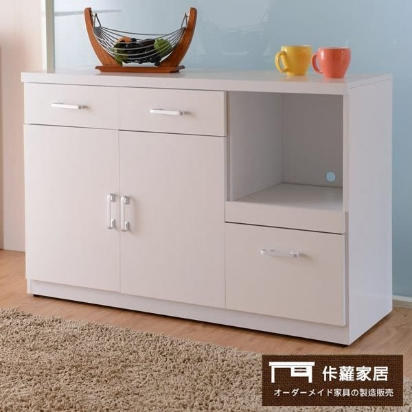 【佧蘿家居館】簡潔收納多功能 廚櫃 (120CM)【C0060】