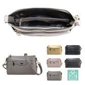 側背包 手感軟皮革氣質三層款兩用斜背包 女包 89.Alley-HB89402