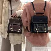 漆皮小包包女2020新款潮韓版時尚學生書包休閒百搭後背包旅行背包 韓慕精品