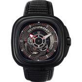 SEVENFRIDAY P3-B 解構世界自動上鍊機械錶-黑/47mm P3-B