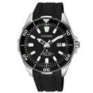 CITIZEN PROMASTER海洋潛水200米鈦金屬光動能膠帶腕錶/ BN0200-13E