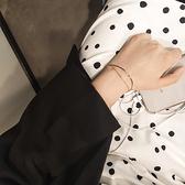 森繫韓版簡約網紅個性ins冷淡風小?設計學生閨蜜女生手鍊手?