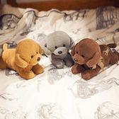 長條枕頭趴趴狗毛絨玩具公仔抱枕娃娃小狗可愛狗年吉祥物布偶兒童WY