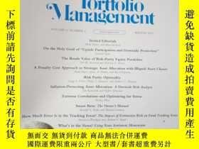 二手書博民逛書店The罕見Journal of Portfolio Manage