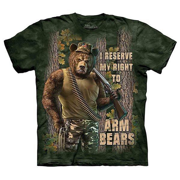 【摩達客】(預購)(大尺碼3XL)國進口The Mountain Life戶外系列 戰鬥棕熊 純棉環保短袖T恤(10415045185)