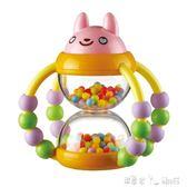 玩具 auby新生嬰幼兒搖鈴 0-1歲花籃沙漏寶寶玩具「潔思米」