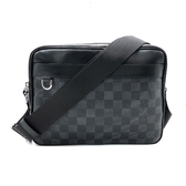 【台中米蘭站】全新品 Louis Vuitton TROCADÉRO NM Damier 帆布斜背包-PM(N40087-黑灰)