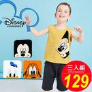 迪士尼 disney 卡通 米老鼠 米奇 Mickey Mouse 唐老鴨 布魯托 純棉 小方巾 (3入組)