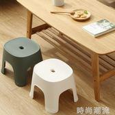 矮凳日式浴室排排凳浴室凳塑料凳子加厚成人換鞋凳方凳小板凳 時尚潮流