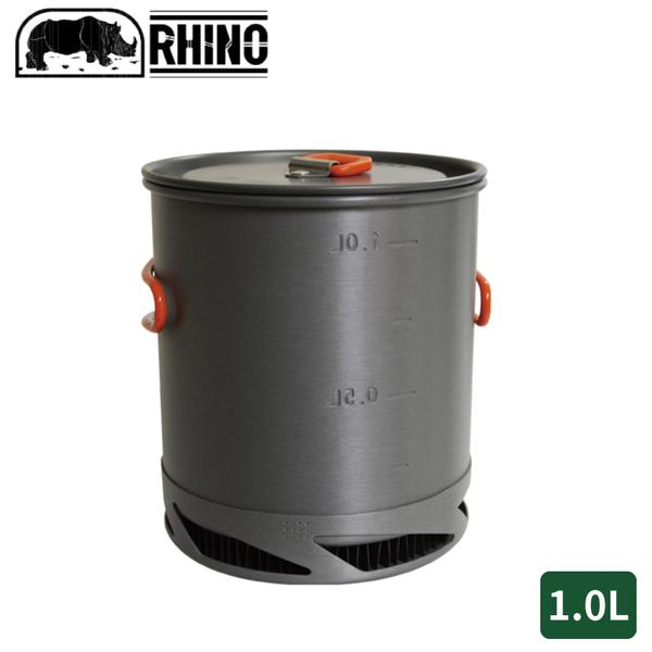 【RHINO 犀牛 K-22 犀牛聚熱強效單鍋1.0L】K-22/露營炊具/登山鍋具/野炊/摺疊鍋/單人鍋