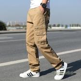 夏季新款男士薄款多口袋工裝褲男長褲戶外寬鬆直筒大碼休閒褲男潮「時尚彩虹屋」