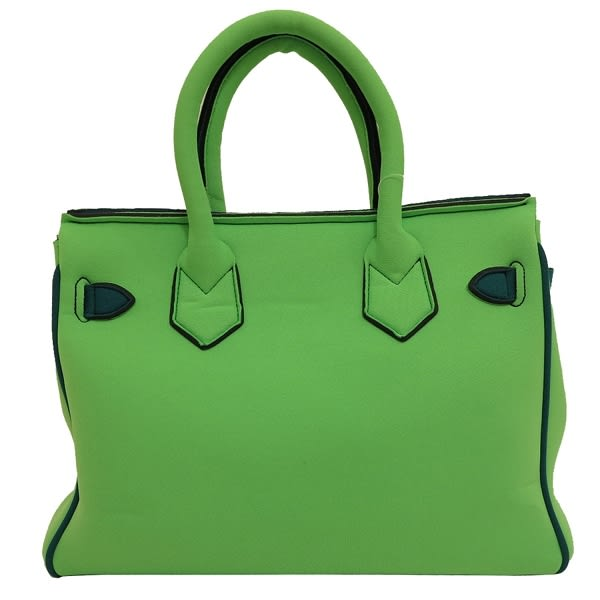 【LEGHILA】KUSO版 B-BAG 小手提款(螢光綠+湖泊綠) S 011 SHOCKING