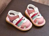 春夏季小寶寶鞋嬰兒防滑軟底學步鞋包頭涼鞋0-1-3歲2男童兒童鞋女  百搭潮品