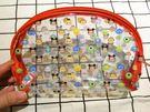 【發現好貨】迪士尼tsumtsum米奇米妮維尼史迪奇透明防水化妝包 收納包 沙灘包 半圓形收納袋