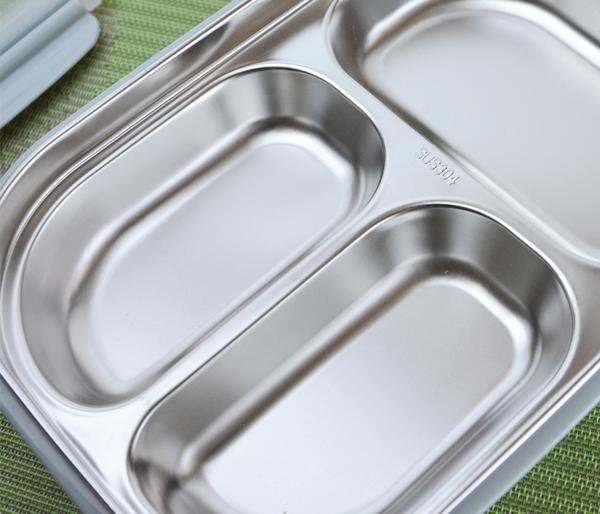 【馬卡隔熱三格/四格餐盒】便當盒 不鏽鋼餐盒 隔熱餐具 分格餐具 保鮮 KLB1914 KLB1915 [百貨通]