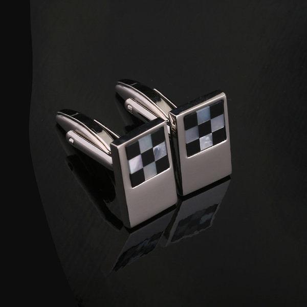 鈦鑲嵌貝殼袖扣 時尚袖釘男士襯衫必備法式袖扣XK011