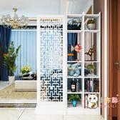 屏風隔斷簡約現代雙面鏤空雕花儲物玄關櫃行動小戶型客廳門廳臥室WY