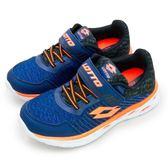 LIKA夢 LOTTO 21cm-24.5cm微重力輕量跑鞋 SUPERLIGHT ZERO系列 藍黑橘 6356 大童