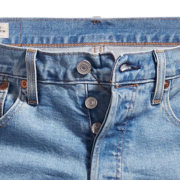 Levis 男款 上寬下窄 / 501 Taper排釦牛仔褲 / 淺藍水洗 / 彈性布料