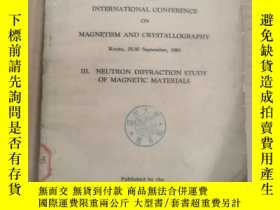 二手書博民逛書店proceedings罕見of the international conference on magnetism