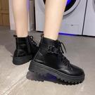 短靴 帥氣馬丁靴女英倫風百搭機車網紅瘦瘦潮ins小短靴夏季酷 晶彩 99免運