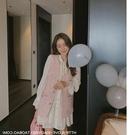 兩件式套裝 廠家直銷200秋新韓版復古 馬甲喇叭袖A字連衣裙兩件套女裝潮