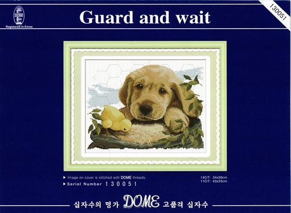 130051 Guard and wait  相親相愛  十字繡材料包.手工藝材料.DIY.刺繡