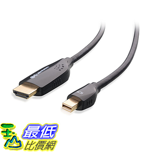 [美國直購] Cable Matters 101019-6 Gold Plated Mini DisplayPort Thunderbolt Compatible to HDTV Cable, 6 Feet 電視線