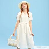 洋裝女夏季潮流時尚甜美雪紡裙學生初戀洋裝 韓慕精品