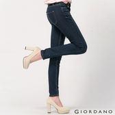 【GIORDANO】女裝基本款彈力貼身窄管牛仔褲(46 深藍色)