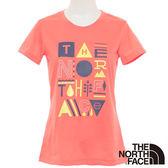 The North Face 女 FLASHDRY短袖T恤-明亮橘 【GO WILD】