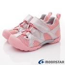日本Moonstar機能童鞋 2E急速乾燥款 1802粉銀(中小童段)