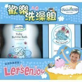 『121婦嬰用品館』貝恩 歡樂洗澡組(嬰兒泡泡香浴露1000ML + 嬰兒洗髮精200ML)