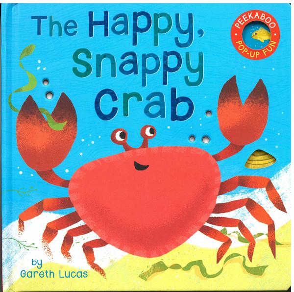 【麥克書店】THE HAPPY, SNAPPY CRAB/PEEKABOO/立體書《主題: 海洋.海底生物》