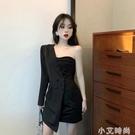 2021年夏季新款裙子夏天性感輕熟風設計感氣質顯瘦黑色洋裝女裝 小艾新品
