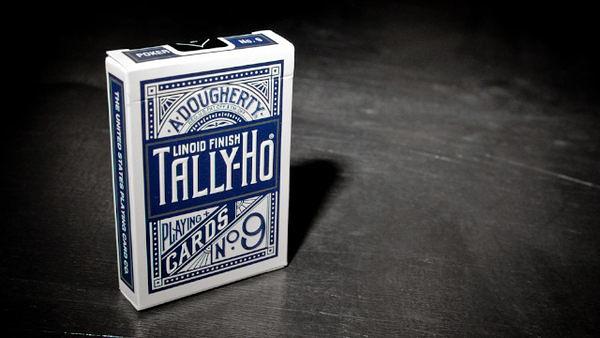 【USPCC撲克館】TALLY-HO 撲克牌 圓背 鈦藍色-牌盒小壓