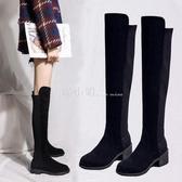 膝上靴 膝上靴女2020秋冬新款百搭騎士靴高筒彈力靴網紅瘦瘦靴長筒靴女 喵小姐