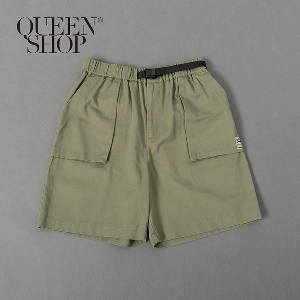 Queen Shop【04101426】親子系列 立體口袋織標短褲 三色售 1/2/3/4*現+預*