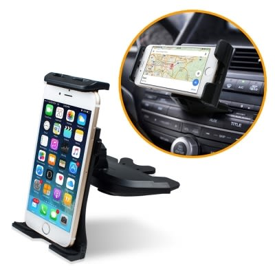 [哈GAME族]鈞嵐 aibo GH087 汽車CD槽專用 手機/平板車架 球型旋軸可調整各種角度 不遮擋行車視線