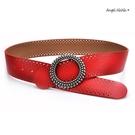 真皮牛皮帶-寬4.8CM簍空軟Q寬腰帶平滑釦女時尚配飾腰封 (SPA0008) AngelNaNa